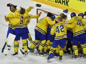 Sverige vann VM-guld efter straffdrama.