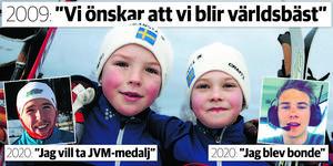 Wille och Päran hade samma dröm – men de har gjort sina vägval. Poromaa är ett stort svenskt skidhopp – Lindström driver sitt eget lantbruk. Bild: Håkan Humla