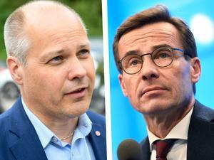 Justitie- och migrationsminister Morgan Johansson (S) och Moderaternas partiledare Ulf Kristersson. Foto: Fredrik Sandberg/TT och Pontus Lundahl/TT