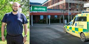 Martin Hedlund undervisade en arbetskamrat när han plötsligt föll ihop. Han vaknade upp igen på Gävle sjukhus. Bild: Privat/Arkiv.