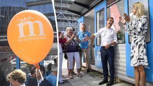 Moderaternas valstuga har formen av en tunnelbanevagn – något som signaturen Fundersam inte tycker talar till landets alla väljare, enbart Stockholmsborna.