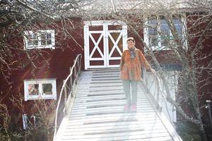 Kajsa Hautala hemma i Matfors där hon bor tillsammans med sin man Pertti.