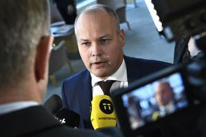 Justitieminister Morgan Johansson är ifrågasatt. FOTO: Claudio Bresciani/TT