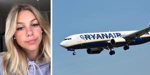 Kayla Griffin från Surahammar är fast i Spanien efter att Ryanair vägrat låta henne kliva ombord på grund av hennes låga ålder.