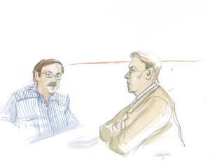 Anders Eklund förhörs av åklagare Olle Sohlberg i Stockholms tingsrätt den 21 juli 2008.Bild: Lotta Jarlsdotter/SCANPIX
