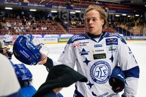 Filip Johansson draftades i första rundan av Minnesota Wild i somras.  Foto: Daniel Eriksson/Bildbyrån