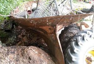 Resterna av slupen Selånger. Från den kom gnistan som tände Sundsvallsbranden. Bild: Lars Daniels