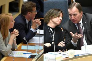 Det är dags att kräva ett fyr-partiledarmöte för att freda Försvarsmakten från politiskt kaos. Annie Lööf (C), Ulf Kristersson (M), Isabella Lövin (MP) och Stefan Löfven (S) har avgörandet i sina händer.