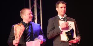 Adrian Lindström och Fredrik Persson tog emot priset som årets företag.