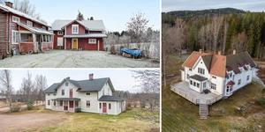 Disponentvillan vid Idkerbergets gruva, Björlinggården, en före detta lanthandel, i Östanvik och en gård i Bäsna med anor från 1845. Det är några av de fastigheter som toppar Klicktoppen. Bilden är ett montage.
