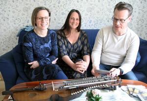 Johanna Bölja, Emma Härdelin och Ola Hertzberg ser fram emot konserterna med Breda gatan, där Kjell-Erik Eriksson också ingår.
