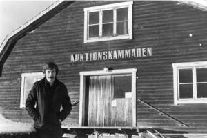 Peter Ericsson vid den gamla auktionskammaren på dåvarande Magasinsgatan. Foto: Arkiv