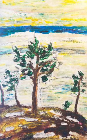 Målning av Örjan Östlund.