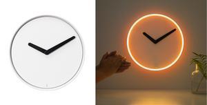 5. Lysande klocka utan tick-tack-ljud.