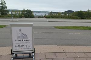 Utsikt från Stora kyrkan i Östersund.