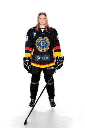 Foto: Lars-Åke Johansson/Södermanlands  Ishockeyförbund. Mindy Lindholm.