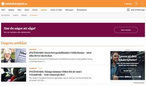 Insändare publiceras löpande på www.helahalsingland.se/insandare.