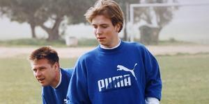 Richard Larsson på träningsläger inför säsongen 1992. Det var då talangen skulle etablera sig på allvar i allsvenskan. Men istället blev det ett år med lite speltid och när säsongen tog slut hamnade Richard Larsson i ett kontraktsbråk som till slut gjorde att han lämnade klubben.