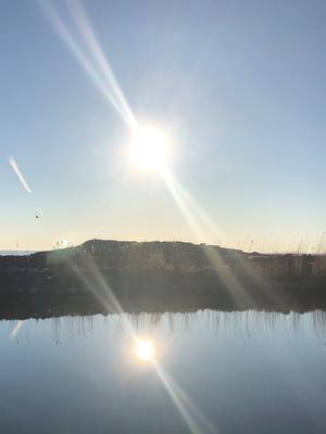 En underbar morgon på Sennebyhaken, Väddö. Foto: Inger Nilsson