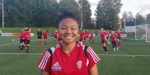 Sarina Bolden, inför sitt första träningspass med sitt nya lag.