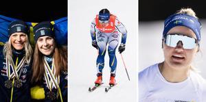 Frida Karlsson, Ebba Andersson, Charlotte Kalla och Linn Svahn är några av längdstjärnorna som är anmälda till helgens tävlingar som vi sänder.