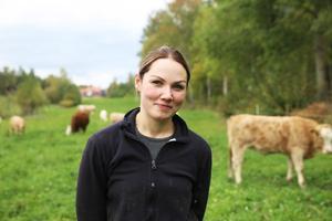 Karolina Persdahl har varit bonde på heltid i fem år.