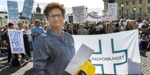 Sineva Ribeiro är Vårdförbundets ordförande. Bild: Thomas Johansson/TT