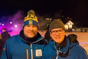 Roger Strandberg och Mathias Gälsing, media- och eventansvariga på Friluftsfrämjandet, de som driver Ragnhildsborgsbacken.