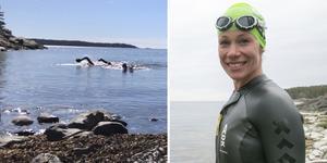 Nynäshamns långdistansklubb anordnar sitt tredje Nynäshamn Swimrun lördag 29 juni. Elittävlande Helena Dalivin är tävlingsledare. Foto: Privat och Carina Albin/NP