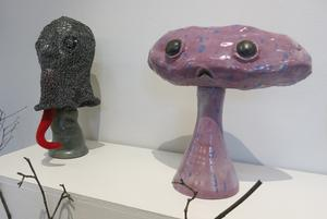 Rädslor – bland annat för aliens – handlar Mikaela Palmebys konst om.