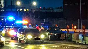 Polis, ambulans och räddningstjänst larmades till olycksplatsen.