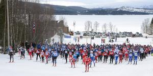 Flyktingloppet blir ännu mer attraktivt för elitåkare från nästa år, när långloppsåkare kan förbättra sin ranking i Visma Ski Classics genom att delta i loppet. Arkivbild: B-O Lydén