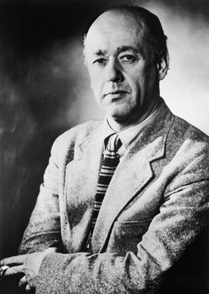 Den rumänske pjäsförfattaren Eugene Ionesco 1961.   Foto: AP
