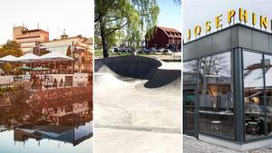 Observera att de föreslagna arkitekturprojekten inte får vara skapade tidigare än 2013. Exempel på sådana är Brasserie Stadsparken, Löga skatepark och Madame Josephine.