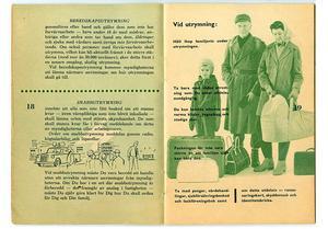 Bild: Försvarsmakten.Håll ihop familjevis, var ett av råden i 1961 års