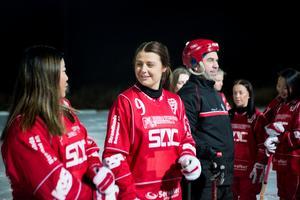 Erica Persson med nummer nio på bröstet.