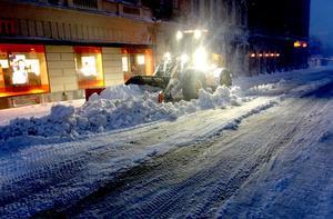 Ungefär en halvmeter snö drabbade Sundsvall den 1 februari 2018.