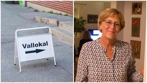 Märtha Dahlberg anade att valdeltagandet skulle bli högt. Tidvis var det långa köer utanför vallokalerna, konstaterar hon.