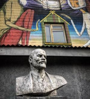 Lenin syns fortfarande till här och var i Vitryssland. Bild: Privat