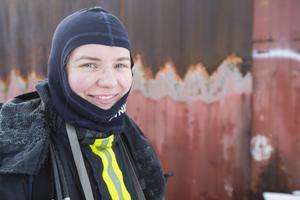 """""""Det är inte roligt om det brinner hemma hos någon, men nu har vi väldigt roligt när vi får öva och så"""" säger Felicia Wesslen Hedqvist."""
