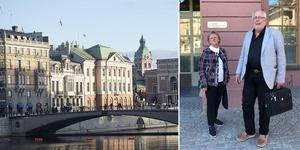 Marianne Isaksson och Benny Gustafsson var på plats i Stockholm och UD under måndagen. Foto: Fredrik Sandberg/TT, Privat.