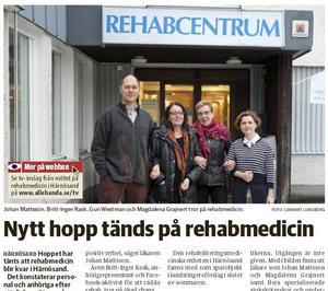Tidningen Ångermanland 25 november 2015.