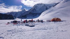 Low Camp, beläget på  2780 meters höjd. Foto: Joel Johansson