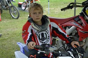 Anton Sundelin, 8, som körde sin första tävling.
