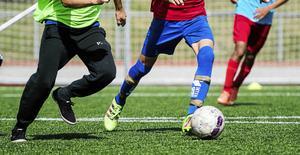 Fotbollsmatch på Kramfors IP.