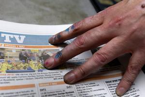Fina färger på fingrarna.