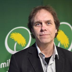 Meteorologen och miljöpartisten Pär Holmgren är ett av partiets namn till EU-valet. Foto: Anders Wiklund/TT