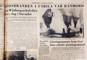 Anna Winberg rånmördades 1976 och fallet blev känt som Färilamordet. Det dröjde dock en vecka innan polisen förstod att det var mord det handlade om.