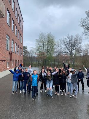 Klass 5A från Enehagens skola i Värnamo vann den lokala finalen av Vi i femman.