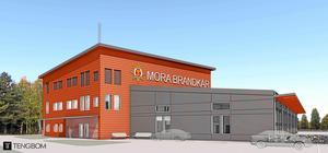 Så här ska den nya brandstationen i Mora se ut. Bild: Tengbom